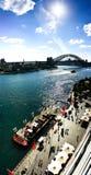 Passerelle de port de Sydney (port) Photo libre de droits