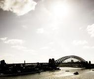 Passerelle de port de Sydney (port) Images libres de droits