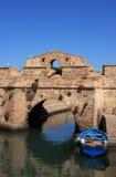 Passerelle de port du Maroc Essaouira Photographie stock
