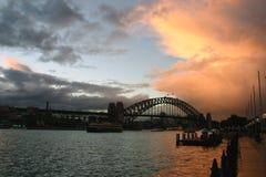 Passerelle de port, Sydney Photos libres de droits