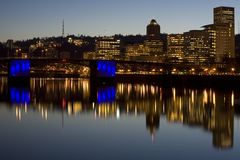 Passerelle de Portland Orégon Morrison Images stock