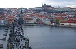 Passerelle de Prague Charles Image libre de droits