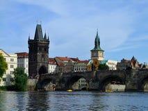 Passerelle de Prague Charles Photo libre de droits