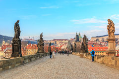 Passerelle de Prague Charles photo stock
