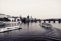 Passerelle de Prague - de Charles Image libre de droits