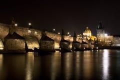 Passerelle de Prague - de Charles Photo libre de droits
