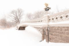 Passerelle de proue dans Central Park Photos stock