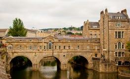 Passerelle de Pultney, Bath, R-U Photographie stock libre de droits