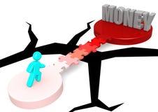 Passerelle de puzzle à l'argent Images libres de droits