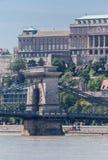 Passerelle de réseaux Budapest photographie stock