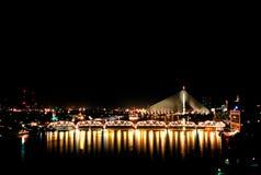 Passerelle de Rama VIII Photos libres de droits