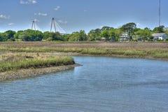 Passerelle de Ravenal à Charleston, Sc Images libres de droits