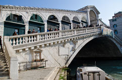 Passerelle de Rialto Photos stock