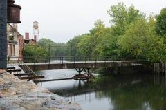 Passerelle de rivière de Pawtuxet Images libres de droits