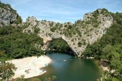 Passerelle de roche - d'Arc de Pont Images libres de droits