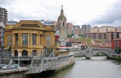 Passerelle de San Anton à Bilbao Photos stock