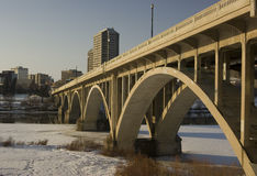 Passerelle de Saskatoon Broadway Photos stock
