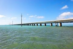 Passerelle de sept milles, clés de la Floride Photographie stock