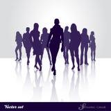 Passerelle de silhouette Photographie stock