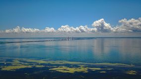 Passerelle de Skyway de soleil photos libres de droits