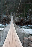 Passerelle de suspension Images stock