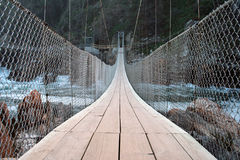 Passerelle de suspension Image stock