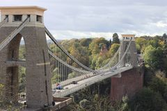 Passerelle de suspension de Clifton, Bristol photographie stock