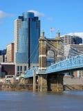 Passerelle de suspension de Roebling photographie stock libre de droits