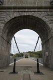 Passerelle de suspension de Wellington à Aberdeen, R-U Photographie stock libre de droits