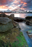 Passerelle de théatre de l'$opéra et de port de Sydney Photographie stock