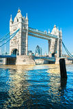 Passerelle de tour, Londres, R-U Images stock