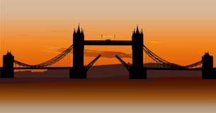 Passerelle de tour à Londres, R-U Photographie stock libre de droits