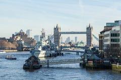 Passerelle de tour ? Londres Un de la plupart des ponts c?l?bres image stock