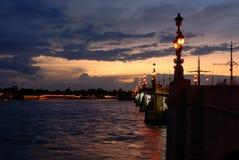 Passerelle de Troitsky à St Petersburg Image libre de droits