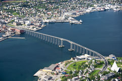 Passerelle de Tromso Photo stock