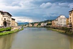 Passerelle de vecchio de Ponte à Florence Photographie stock libre de droits