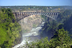 Passerelle de Victoria Falls Photo stock