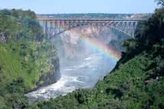 Passerelle de Victoria Falls Photographie stock libre de droits
