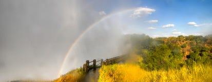 Passerelle de Victoria Falls Images libres de droits