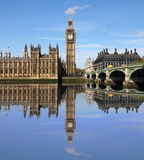 Passerelle de Westminster avec grand Ben, Londres Image libre de droits