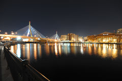 Passerelle de Zakim à Boston le Massachusetts Photographie stock libre de droits