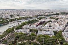 巴黎passerelle debilly河围网 图库摄影