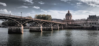 Passerelle des Arts in Paris, France Royalty Free Stock Images
