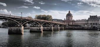 Passerelle des Arts in Paris, France. Passerelle des Arts and Insitut de France in Paris, France royalty free stock images