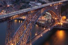 Passerelle des DOM Luis à Porto Image libre de droits