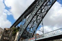 Passerelle des DOM Luis I, Porto Image libre de droits