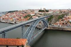 Passerelle des DOM Luis I, Porto, Portugal Image stock