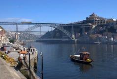 Passerelle des DOM Luis sur Porto, Portugal Photo libre de droits