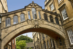 Passerelle des soupirs à Oxford - en Angleterre Image libre de droits