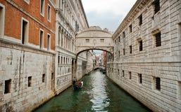 Passerelle des soupirs à Venise image libre de droits
